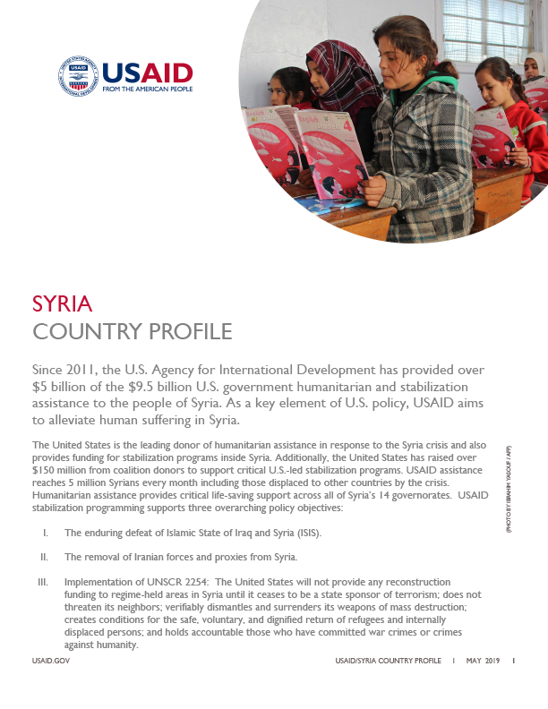 Syria Country Profile - May 2019