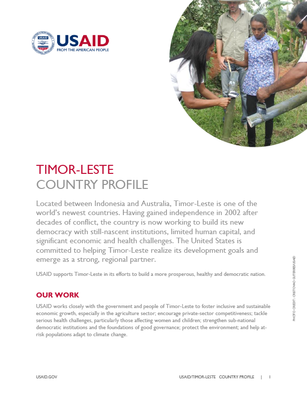 USAID/Timor-Leste Country Profile