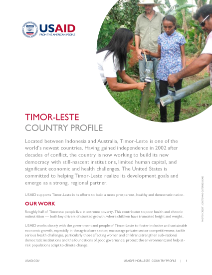 USAID/Timor-Leste Country Profile 2016