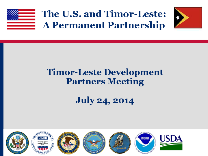 Timor-Leste Development Partners Meeting (TLDPM)