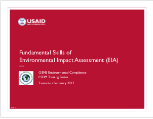 4.5-Day Basic EC-ESDM - Session 3: Fundamental Skills of Environmental Impact Assessment Presentation
