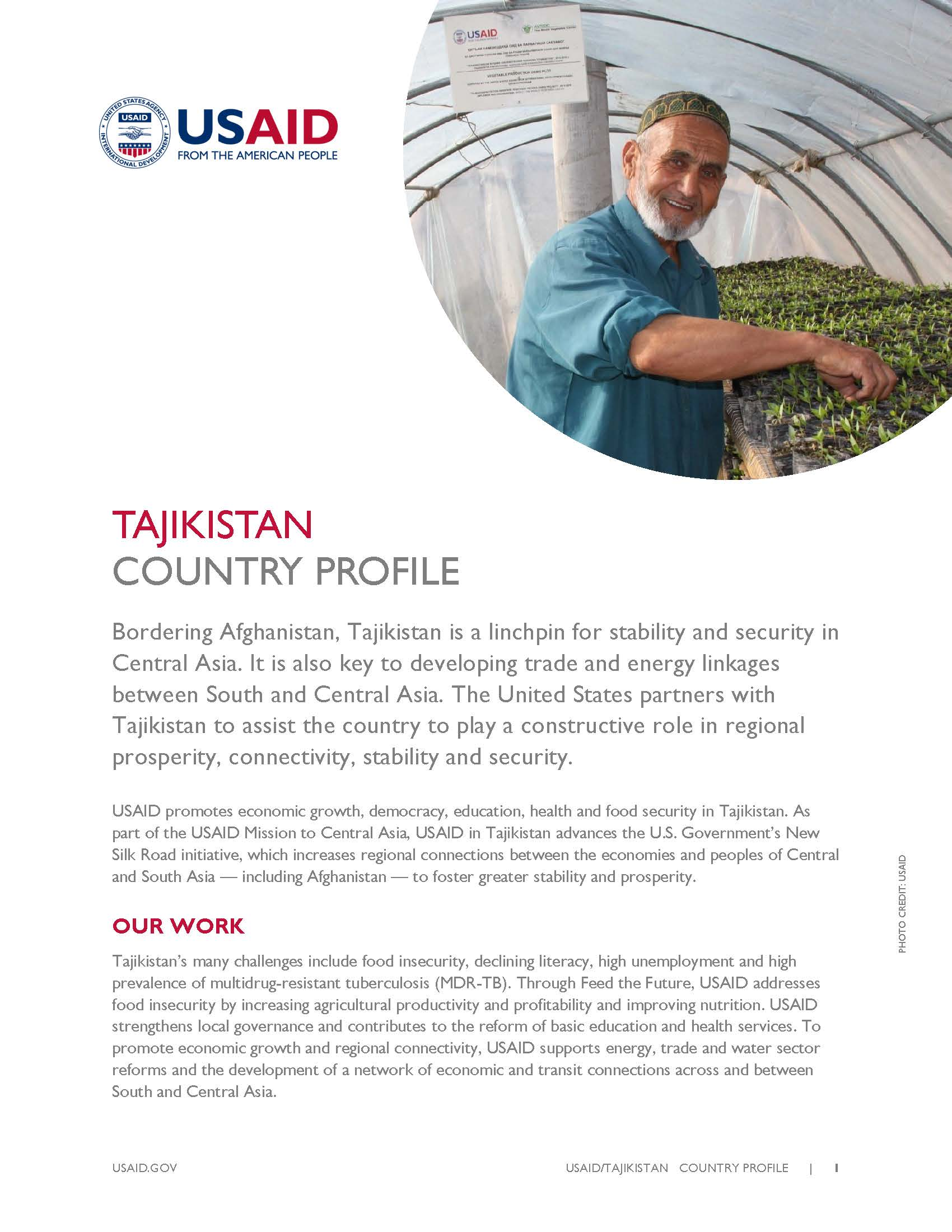 Tajikistan Country Profile 2016
