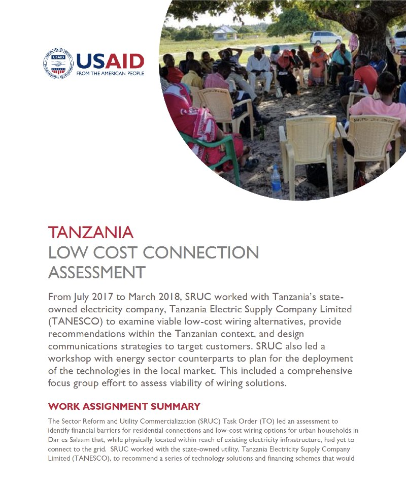 Tanzania Low Cost Connection Assessment