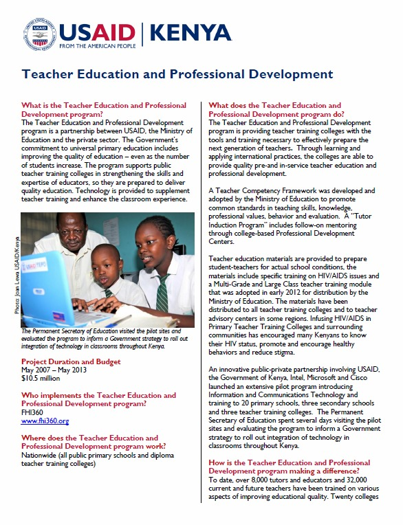 Teacher Education and Professional Development_Mar 2013