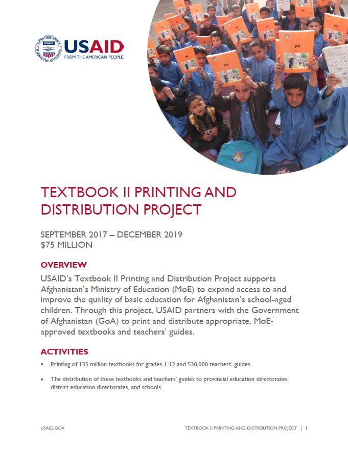 Textbook II Printing and Distribution Project