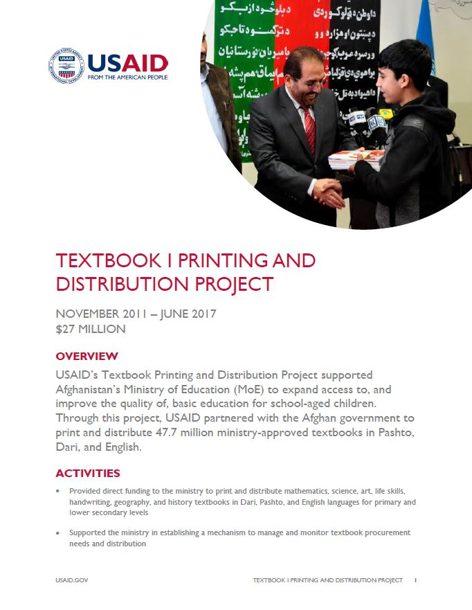 Textbook I Printing and Distribution Project