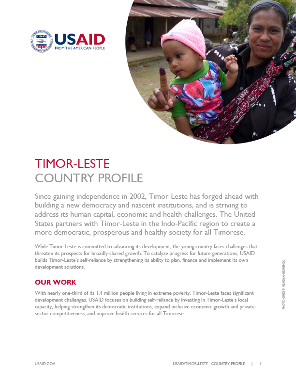 Timor-Leste Country Profile 2019