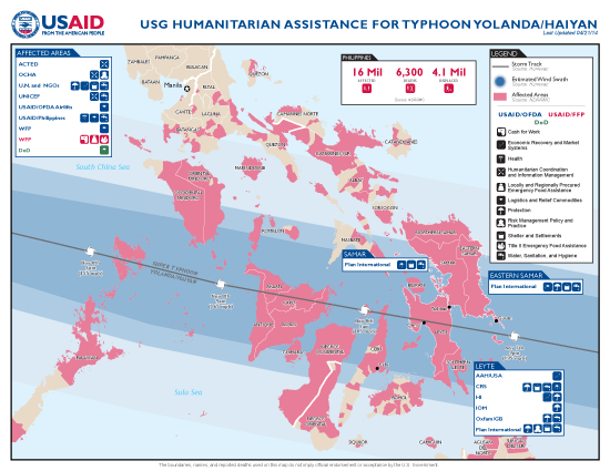Philippines Typhoon Yolanda Program Map - 04-21-2014