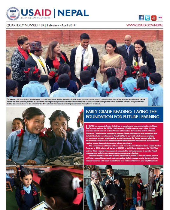 USAID/Nepal Quarterly Newsletter: February to April 2014
