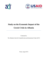 Study on the Economic Impact of the Greek Crisis in Albania