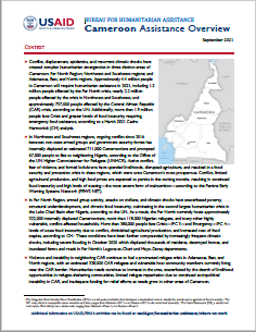 USAID-BHA Cameroon Assistance Overview - September 2021