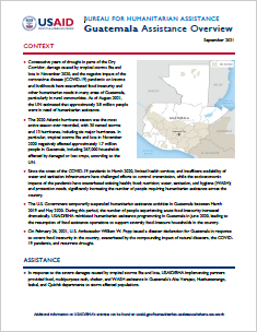 USAID-BHA Guatemala Assistance Overview - September 2021