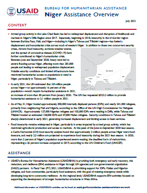USAID-BHA Niger Assistance Overview - July 2021