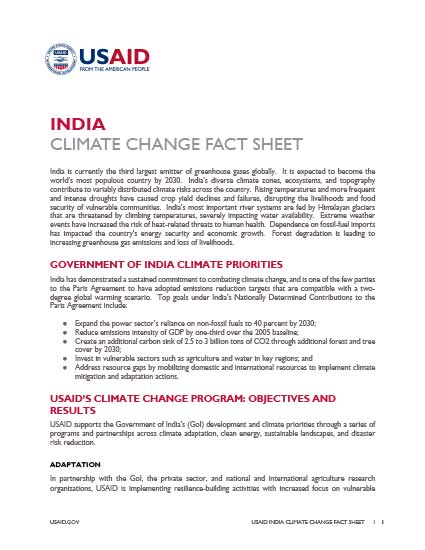 India Climate Change Country Profile