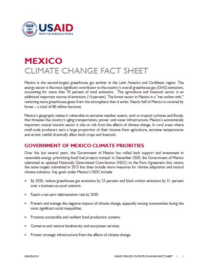 Mexico Climate Change Country Profile