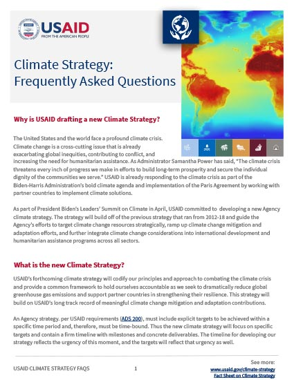 Climate Strategy Frequently Asked Questions