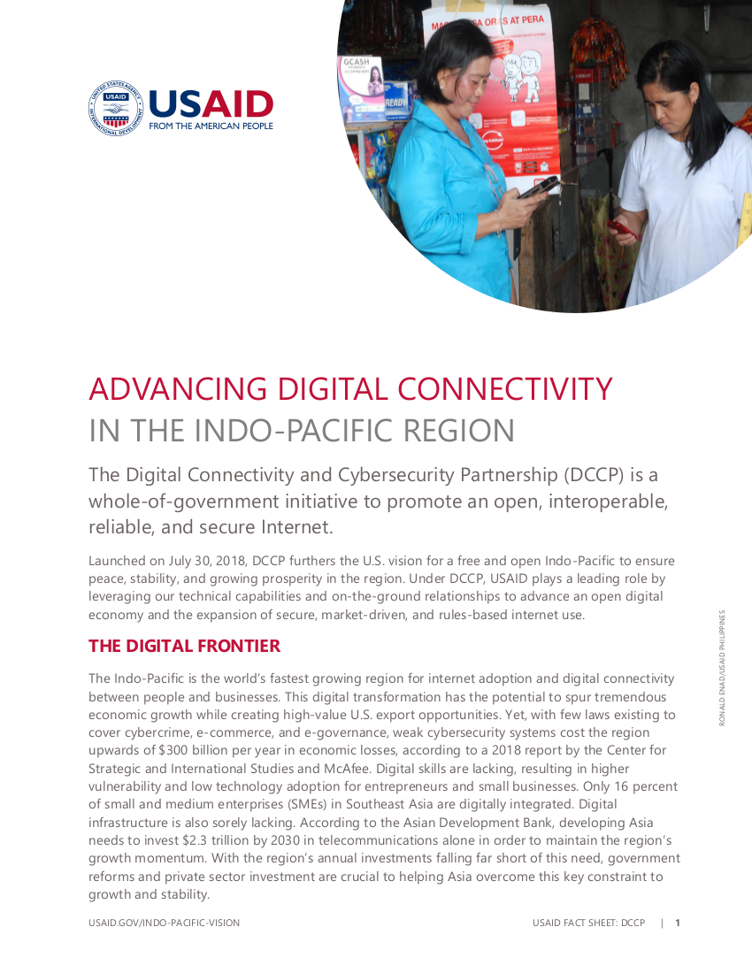 Fact Sheet: Advancing Digital Connectivity in the Indo-Pacific Region
