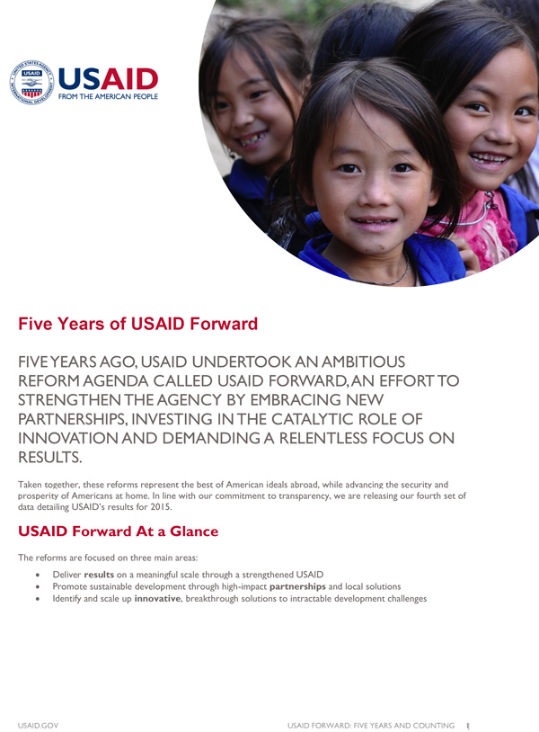 Five Years of USAID Forward