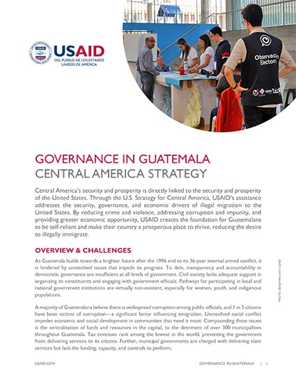 Governance in Guatemala: Central America Strategy