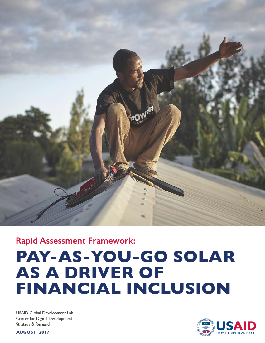 Pay-As-You Go Solar as a Driver of Financial Inclusion