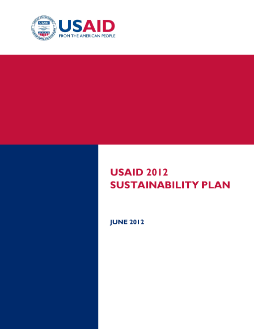USAID 2012 Agency Sustainability Plan