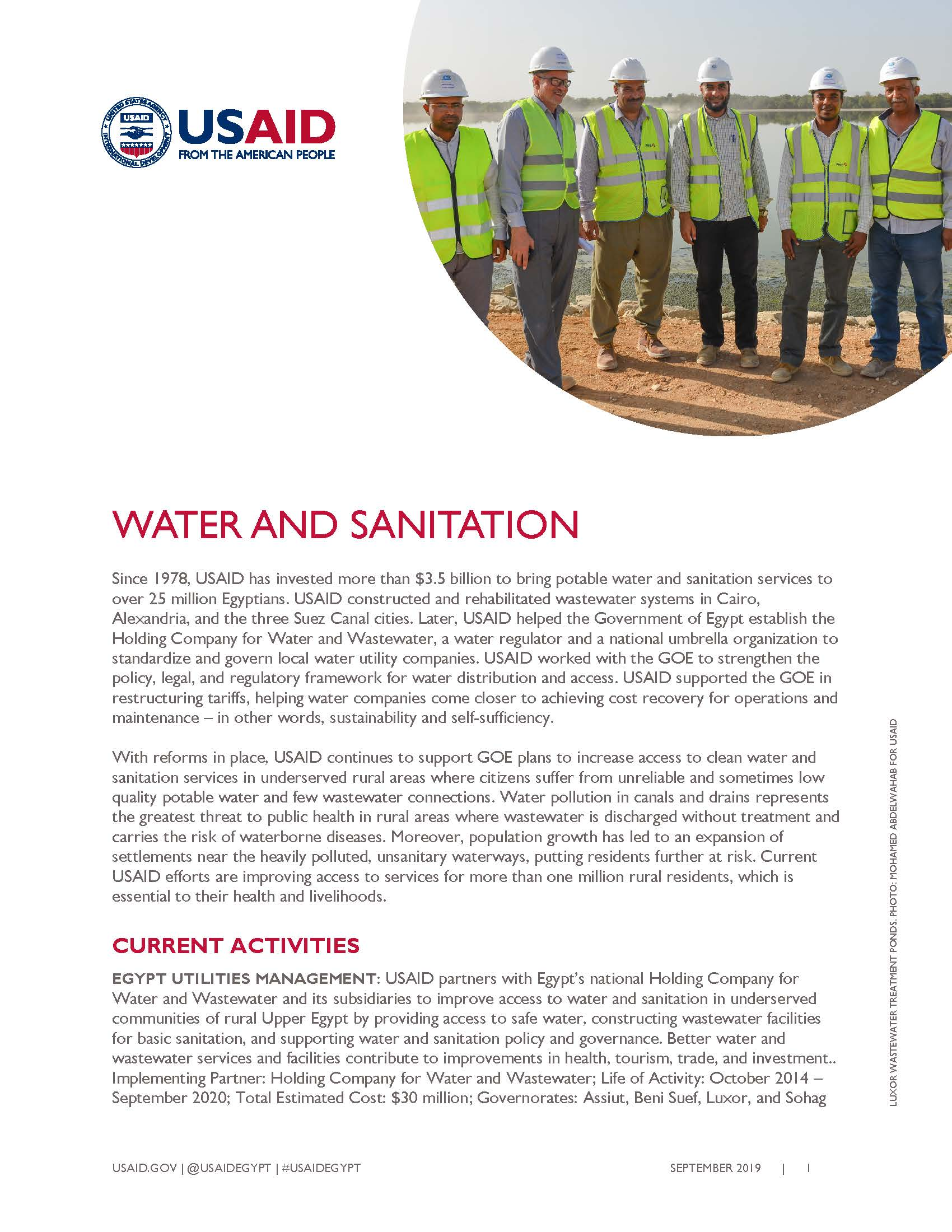 USAID/Egypt Water Fact Sheet