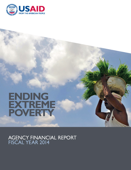 FY 2014 Agency Financial Report: Ending Extreme Poverty