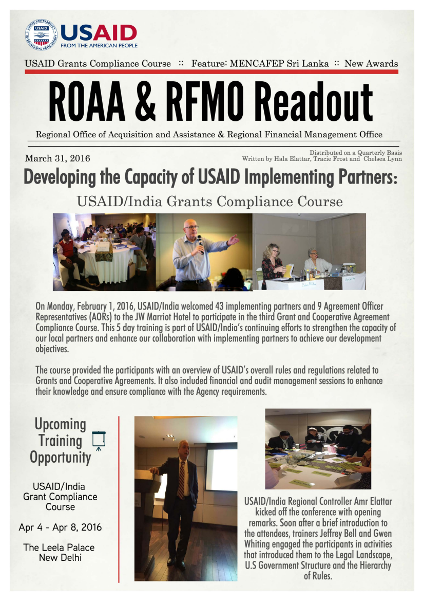 ROAA & RFMO Readout - March 2016