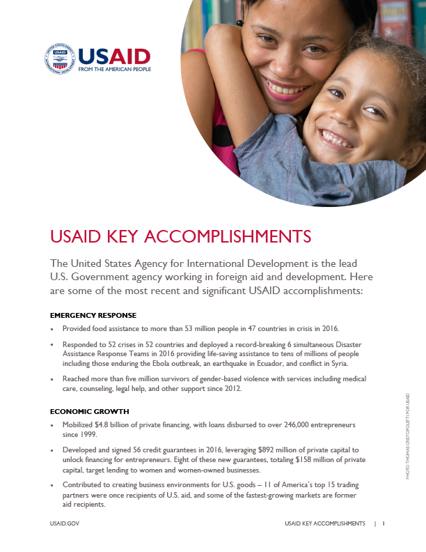 USAID Key Accomplishments - February 2017