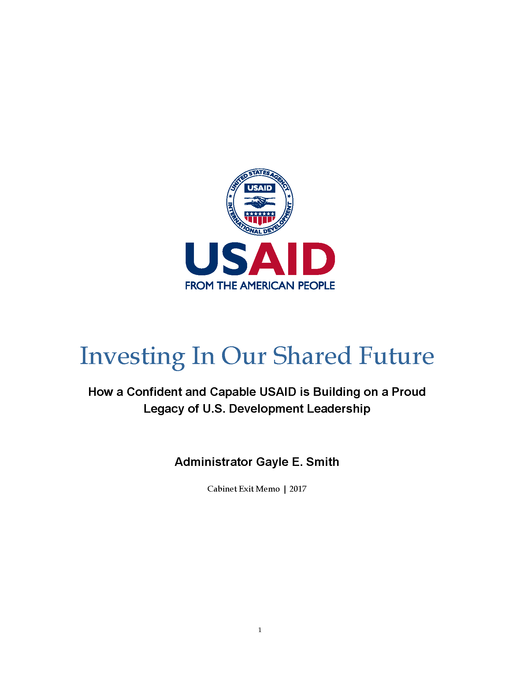 Investing in Our Shared Future