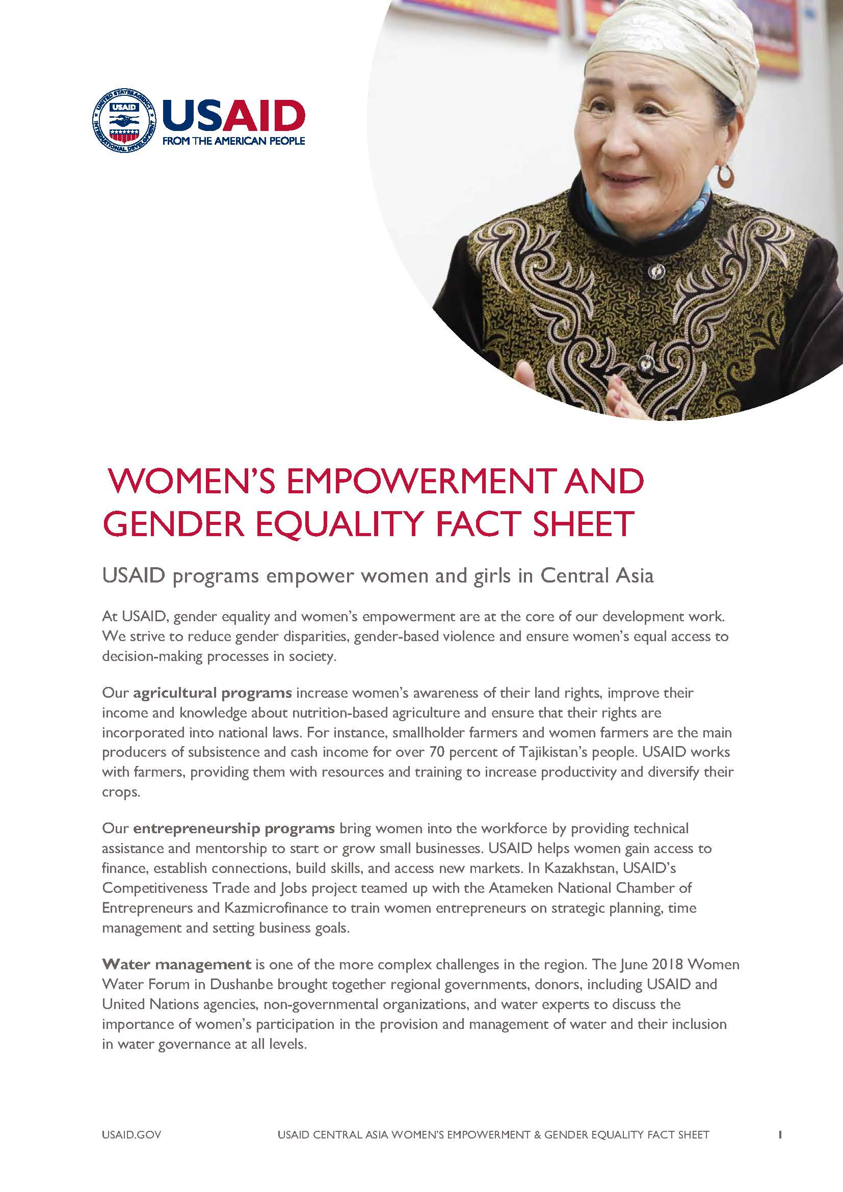 Women's Empowerment and Gender Equality Fact Sheet