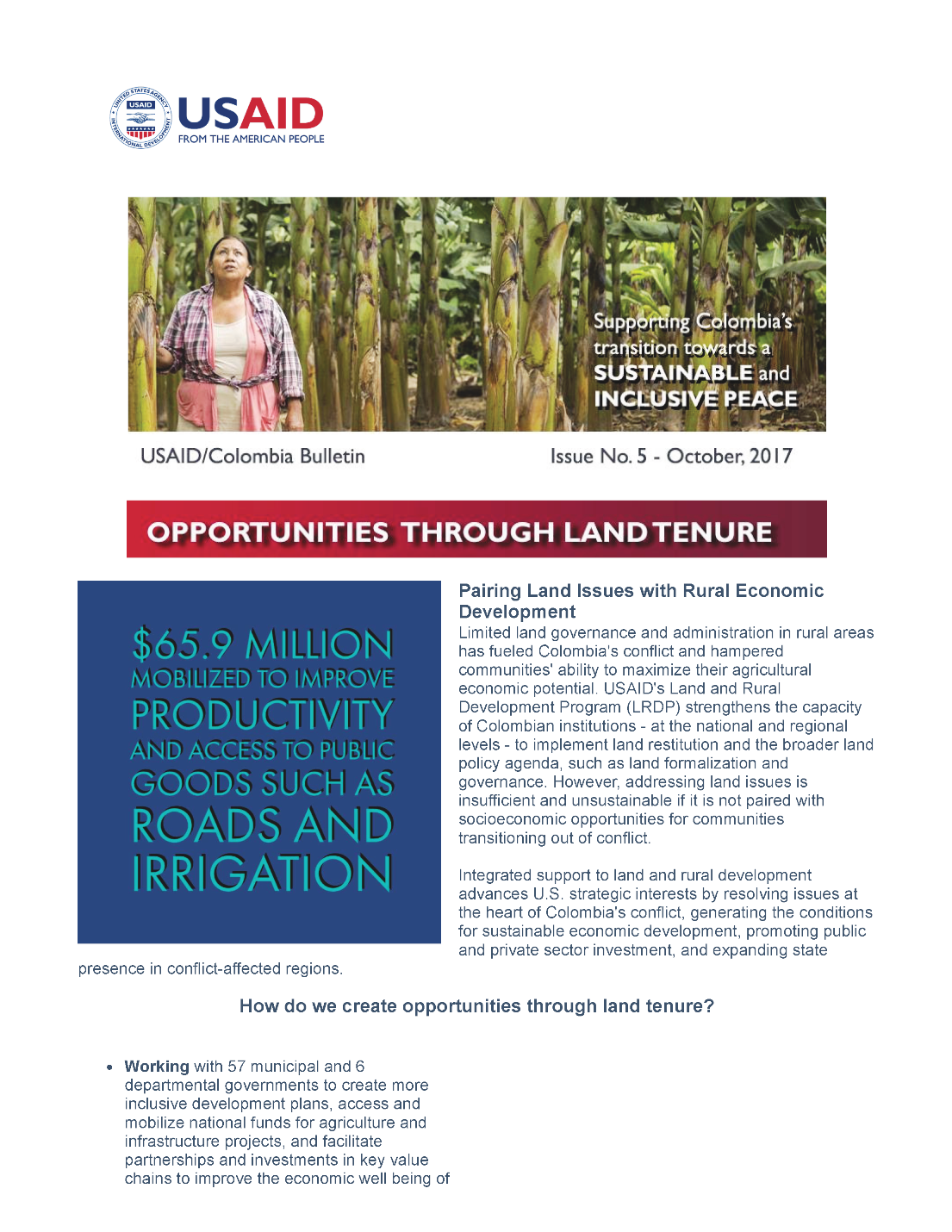 Opportunities Through Land Tenure