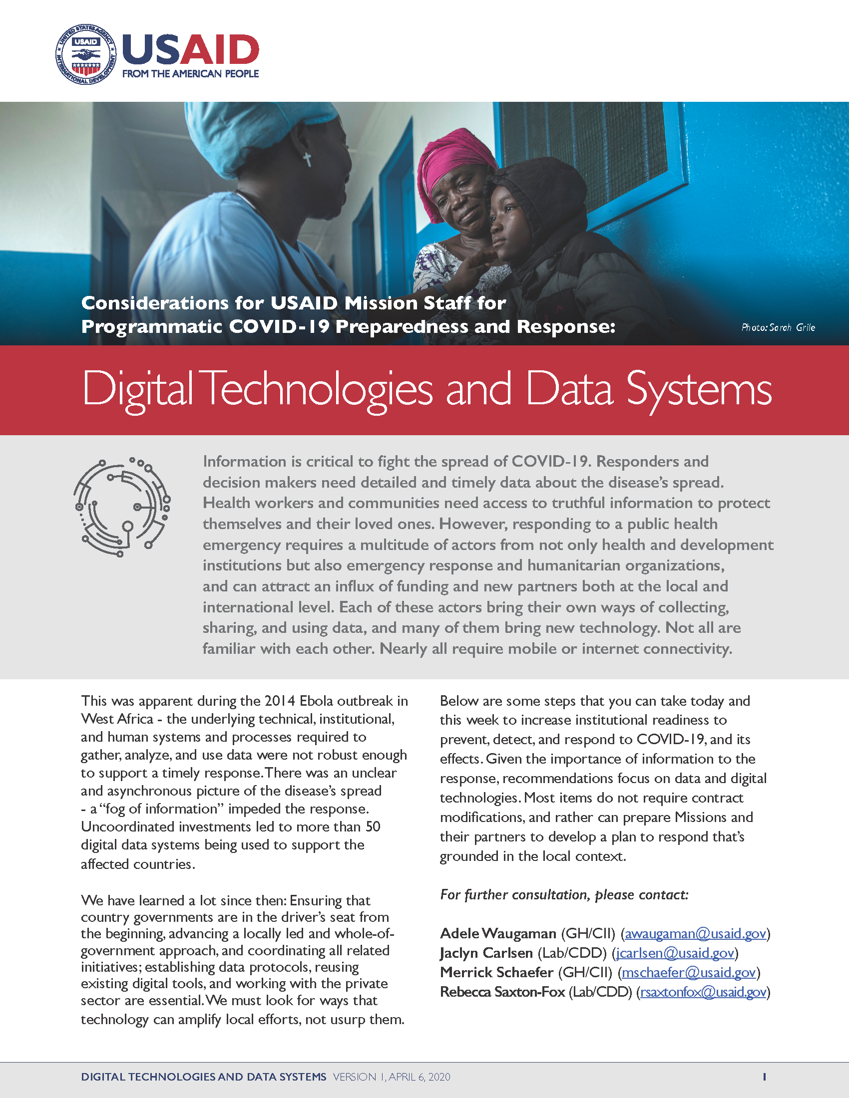 Digital Technologies and Data Systems