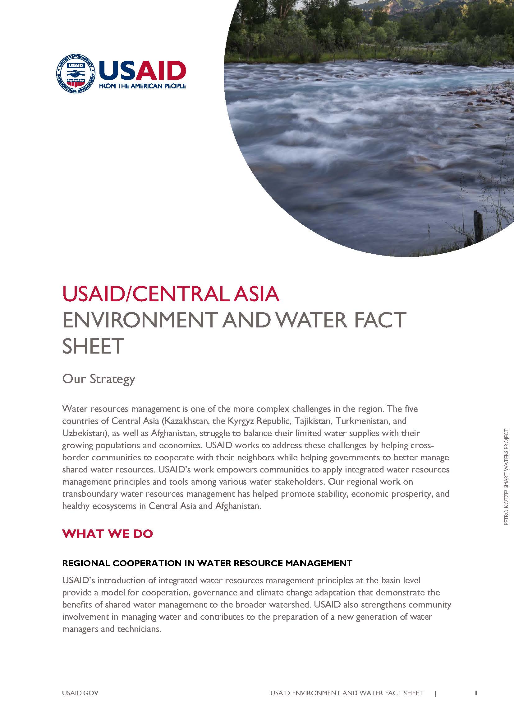 USAID/Central Asia Environment and Water Fact Sheet