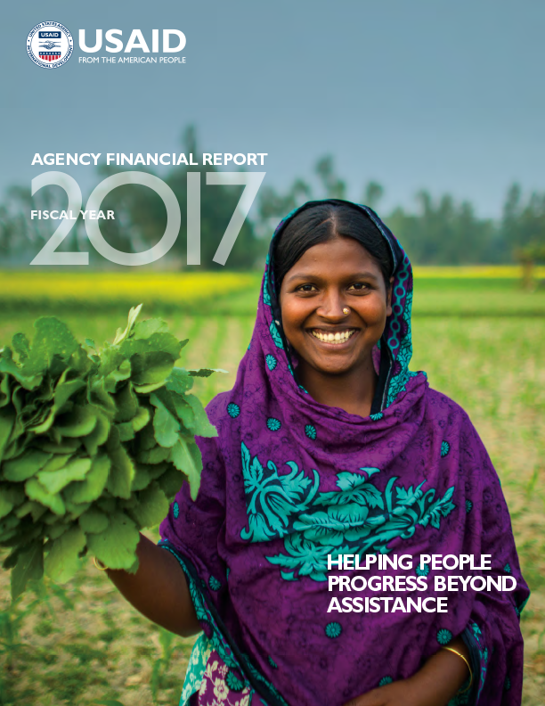 FY 2017 Agency Financial Report: Helping People Progress Beyond Assistance