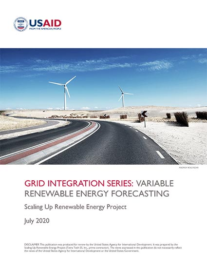 Renewable Energy Auctions Toolkit: Variable Renewable Energy Forecasting