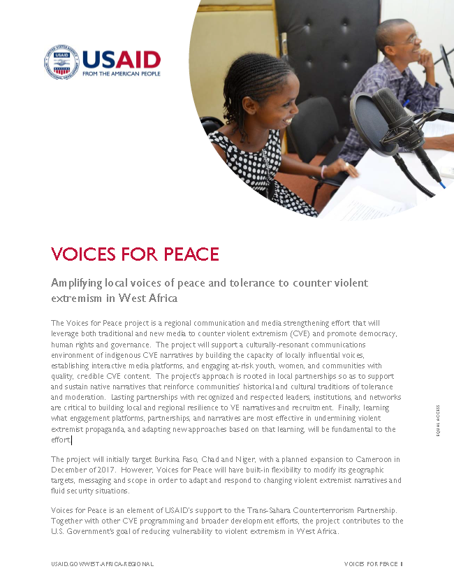 Voices for Peace Updated Fact Sheet