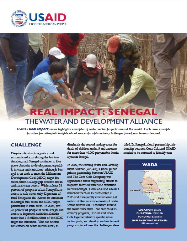 Real Impact: Senegal - The Water and Development Alliance