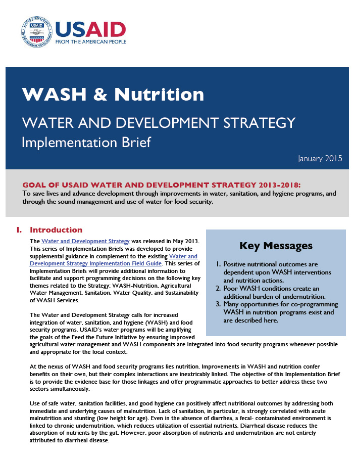 WASH & Nutrition - Implementation Brief - January, 2015