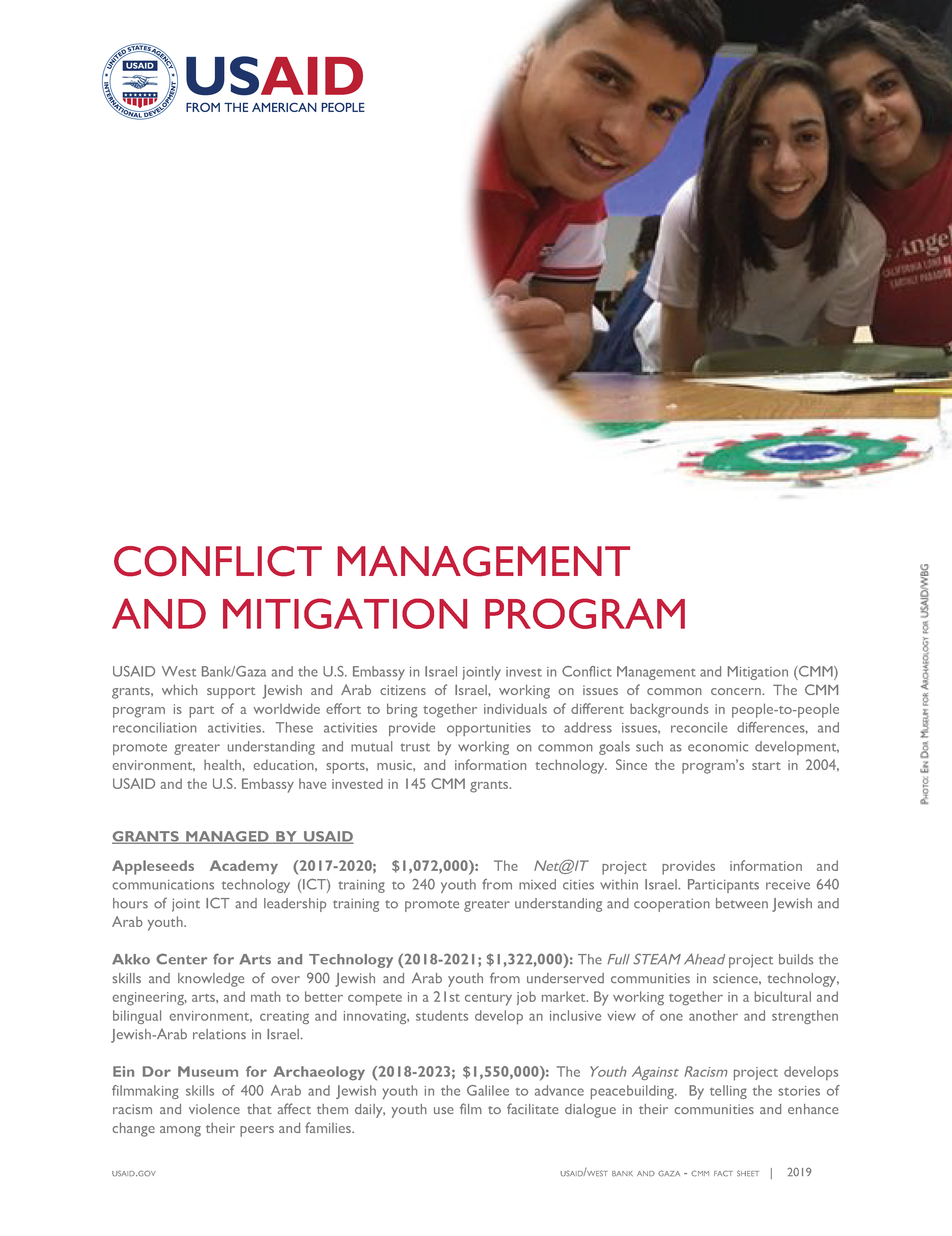 Conflict Management and Mitigation Fact Sheet 2019-2020