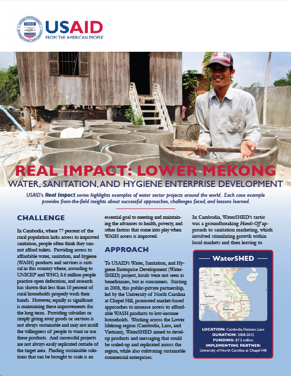 Real Impact: Lower Mekong - Water, Sanitation, and Hygiene Enterprise Development