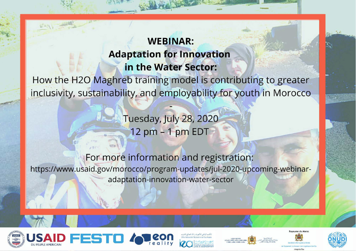 Flyer: WEBINAR: Adaptation for Innovation in the Water Sector