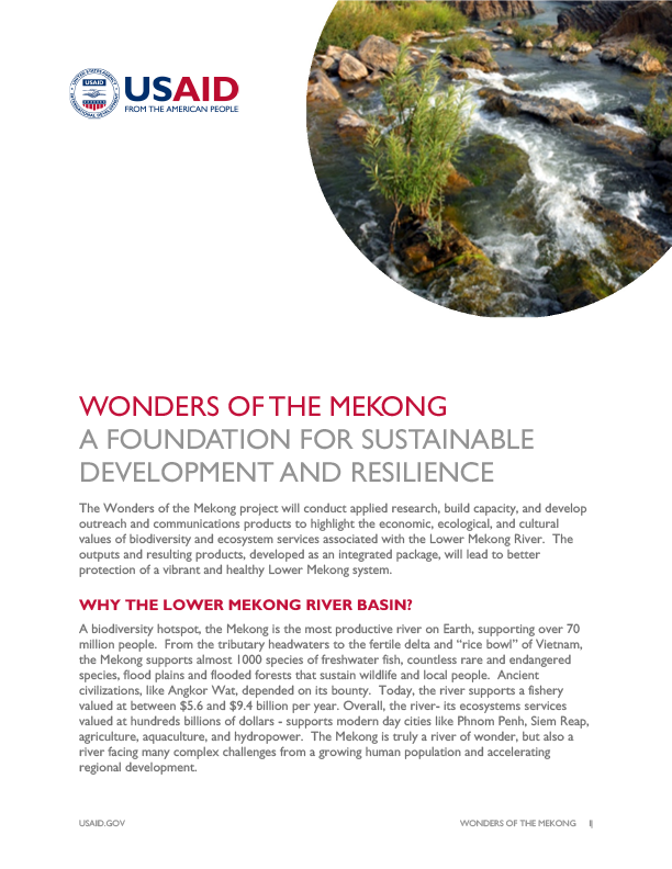 Wonders of the Mekong Fact Sheet