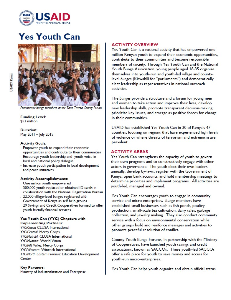 Yes Youth Can National Fact Sheet_November 2014