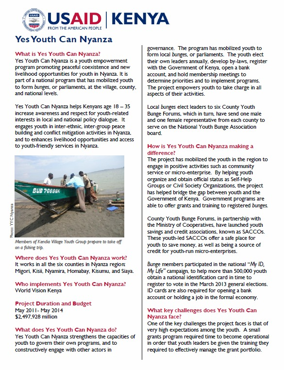 Yes Youth Can Nyanza Fact Sheet_March 2013