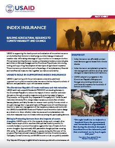 Index Insurance: Building Agricultural Resilience to Climate Variability and Change