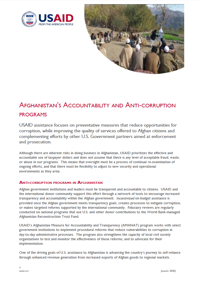 Accountability and Anti-Corruption Fact Sheet