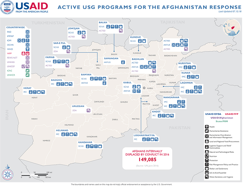 Afghanistan Map - 07-13-2016