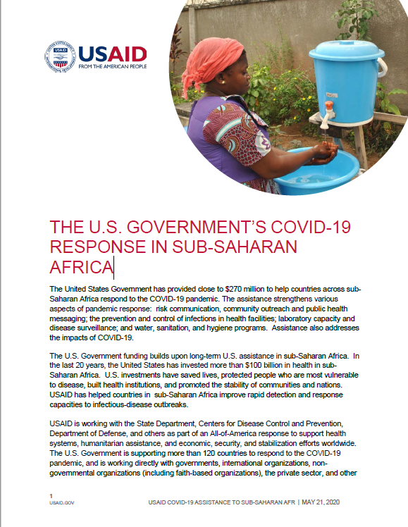 The U.S. Government's COVID-19 Response in Sub-Saharan Africa