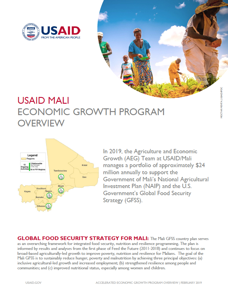Agriculture & Economic Growth Program Overview